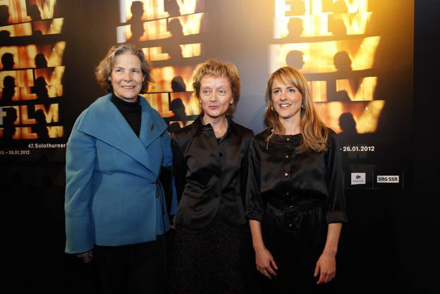 Christine Beerli, Eveline Widmer-Schlumpf und Seraina Rohrer bei der Eröffnung