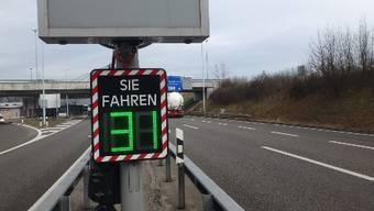 Geschwindigkeitskontrolle Grenzübergang Rheinfelden