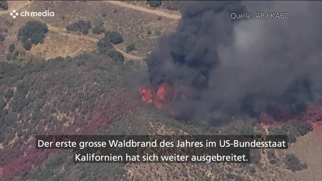 Waldbrand in Kalifornien weitet sich aus