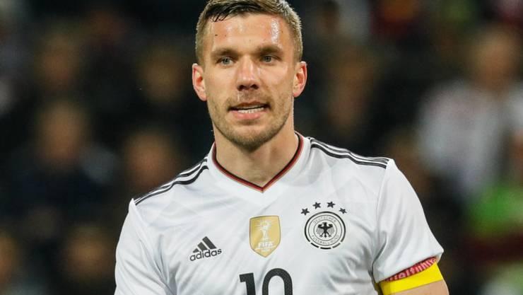 Lukas Podolski könnte bei Olympia in Tokio nochmals für Deutschland auflaufen