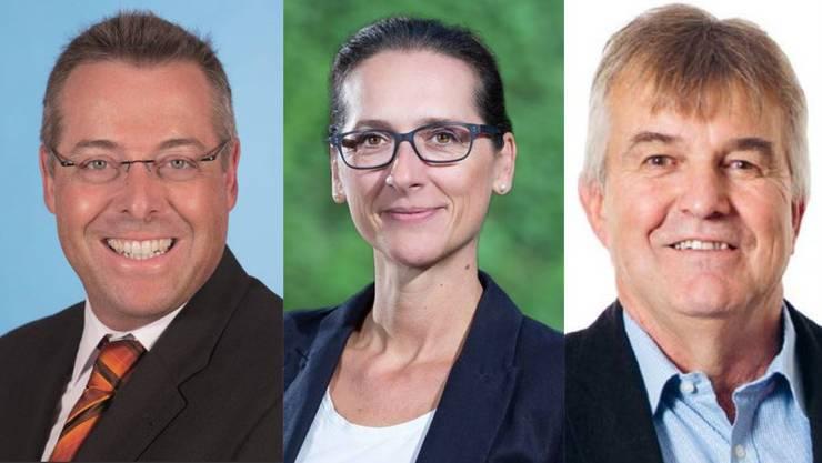 Neu im Einwohnerrat - Marc Läuffer (SVP), Laura Pascolin (SP) und Ruedi Donat (neu)