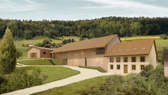 So soll das Pferdezentrum auf dem Bücklihof in Freienwil aussehen. Für den Bau der Gebäude müsste die Nutzungsordnung der Gemeinde angepasst werden. ZVG