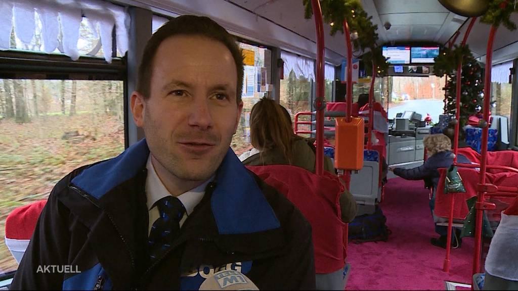 Unverhoffte Weihnachtsstimmung in Bus