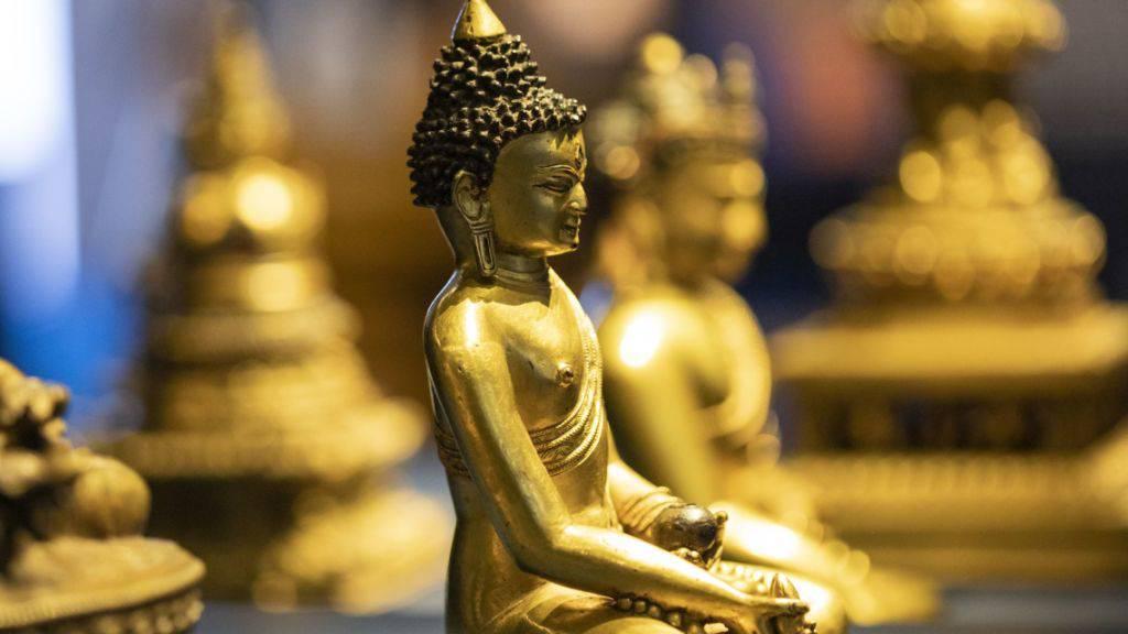 Einer von über 50 Buddhas in der Ausstellung «Erleuchtet - Die Wege der Buddhas» im Museum der Kulturen Basel.