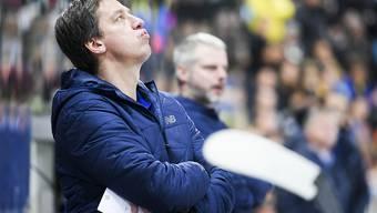 Der Davoser Cheftrainer Harijs Witolinsch konnte sein Team gegen das Team Canada nicht zum Sieg coachen
