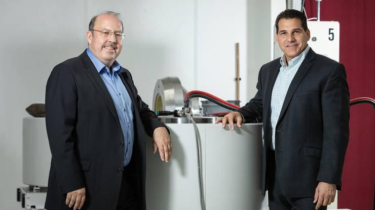 Frank Ziemer (links) und Rober Chodelka können alle vier Tage einen Diamante aus jeder Presse holen.