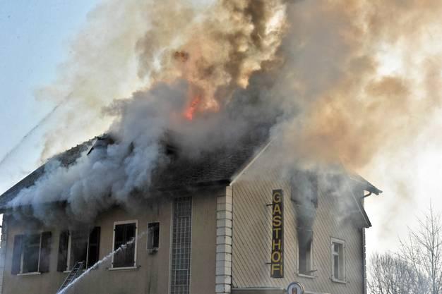 Grossbrand in Bettlach
