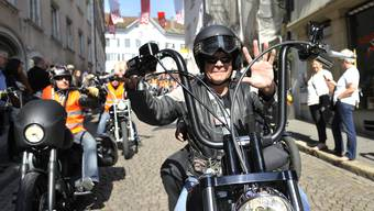 Harley-Parade mit Charity Ride in Solothurn