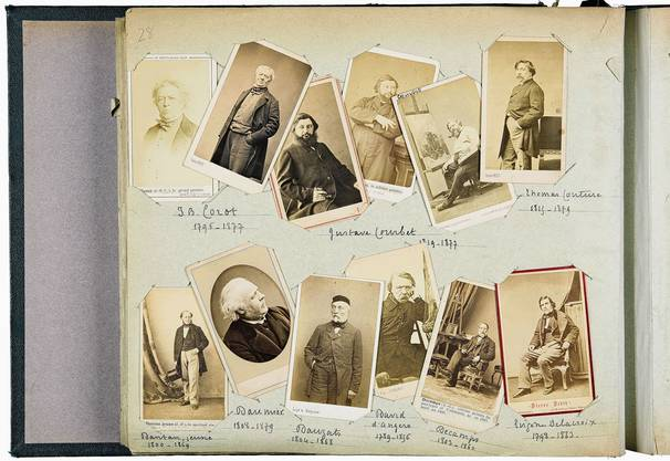 Porträts von Malern und Bildhauern, um die Jahre 1860–1875.