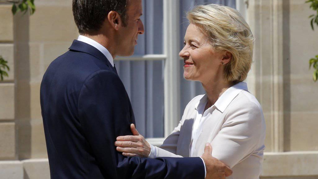 Von der Leyen dankt Macron für die Unterstützung