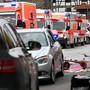 Auto rast in Volkmarsen in Menschenmenge
