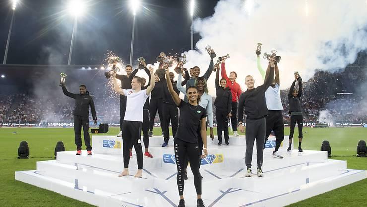 Die Ehrung der Diamond-League-Sieger 2019 im Letzigrund-Stadion