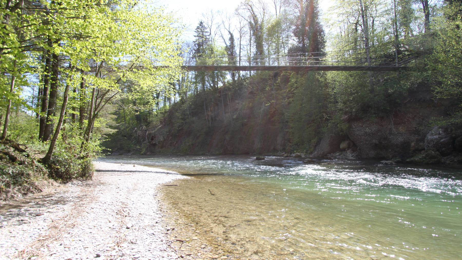 Der «Gangeli-Steg» verbindet Bütschwil Untermühle und Ganterschwil Oetschwil.
