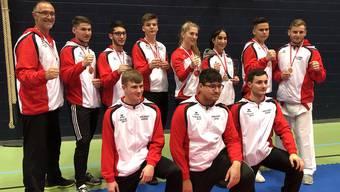 Die BSC Karate-Kämpferinnen und Kämpfer der Kategorien Elite, U21 und U18.