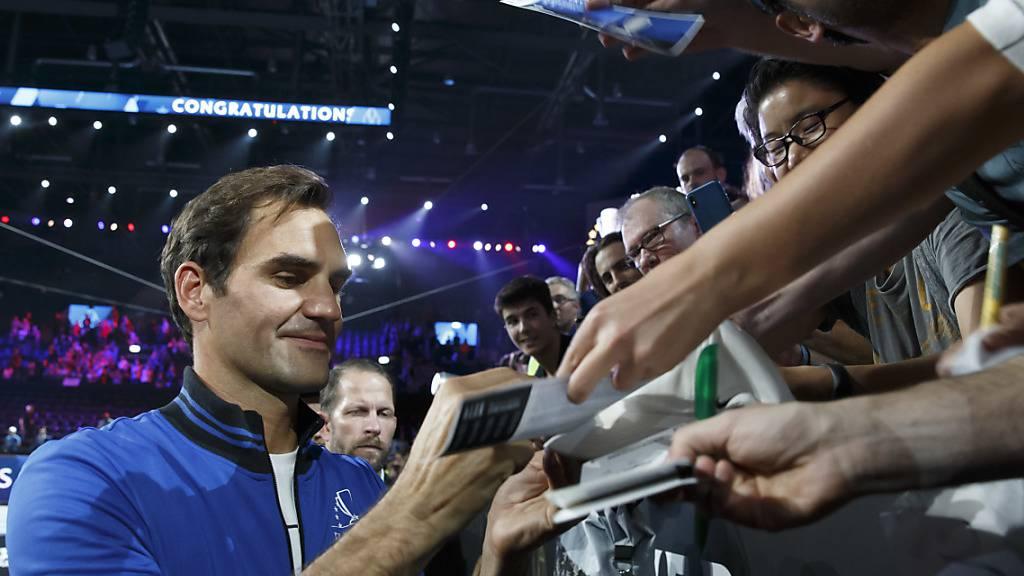 Vor einem Jahr begeisterte Roger Federer die Tennisfans beim Laver Cup in Genf