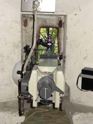 Sicht vom Kanonenstand aus dem Bunker