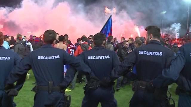 FC Aarau und Kapo gemeinsam gegen Chaoten
