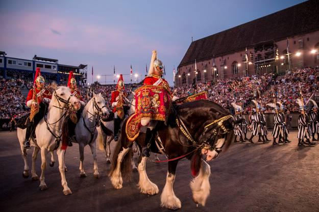 Band of The Life Guards mit Pferden aus Grossbritannien.
