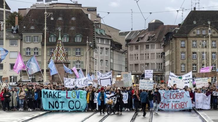 Eine Klimaschutz-Demo im Februar 2020. Symbolbild.