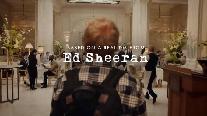 Ed Sheeran macht Werbung für Ketchup