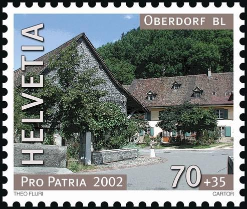 2002 ehrte die Post das Dorf Oberdorf.