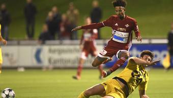 Toni Lelo (oben) und der FC Baden treffen am Samstag auf United Zürich.
