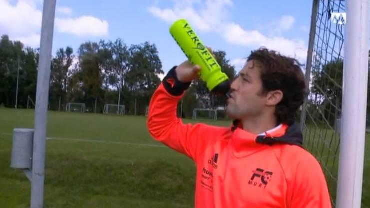 Badener Fans urinierten in seine Trinkflasche: Reto Felder, Goalie von Muri. (Archiv)