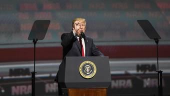 US-Präsident Trump versprach der mächtigen Waffenlobby, für die Rechte von Waffenbesitzern einzutreten.
