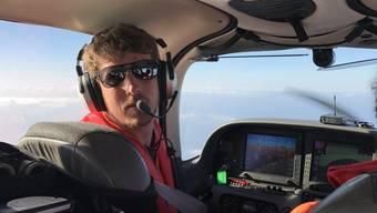 Fabio Zgraggen bei einem Suchflug im Mai 2016.