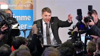 Endlich auf der grossen Politbühne: André Poggenburg, Vorsitzender der «Alternative für Deutschland» in Sachsen-Anhalt. JENS BUETTNER/Keystone