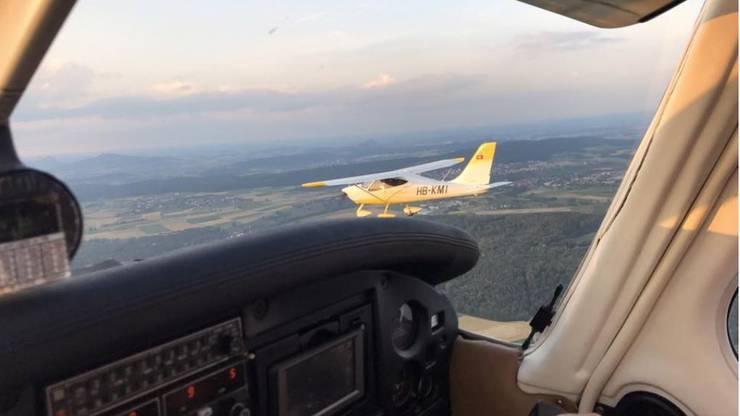 Blick aus dem Cockpit.