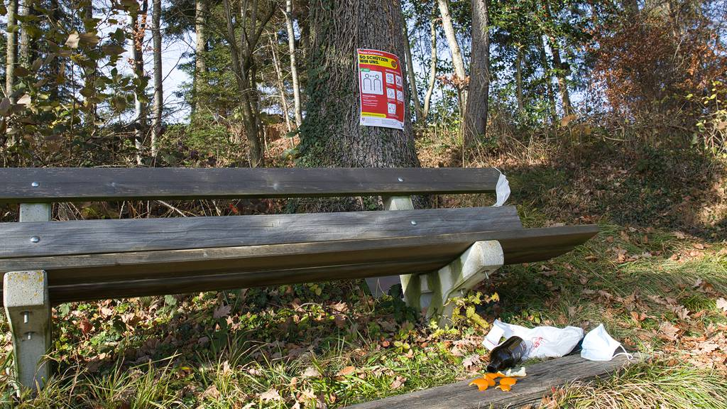 Waldbesitzer nerven sich über weggeworfene Masken