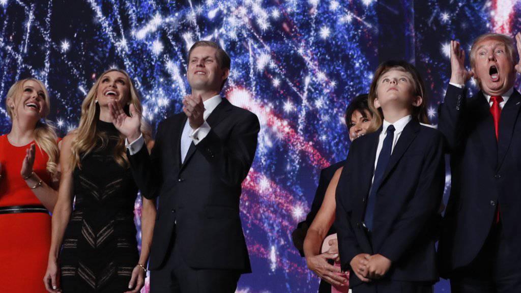Der designierte US-Präsident Donald Trump verlässt sich geschäftlich und in der Politik gerne auf seine Familie.  (Archiv 2016)