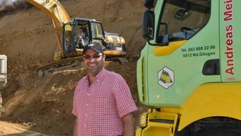 Bauunternehmer und Vizegemeindepräsident Andreas Meier will die Nachfolge von Kurt Henzmann antreten. Die Nachfolge für seinen Betrieb hat der 58-Jährige vor zwei Jahren aufgegleist.