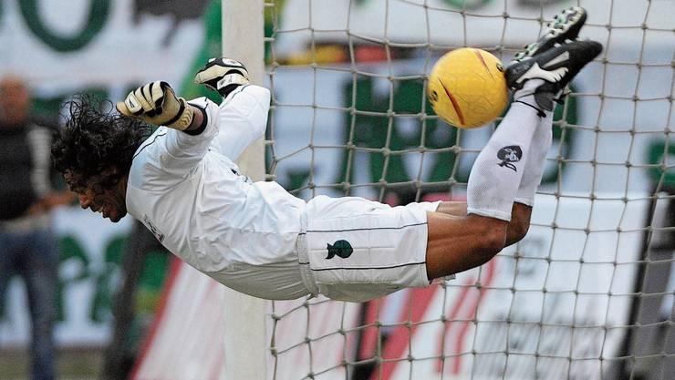 Legendäre, weil spektakuläre Goalieparade: René Higuita.