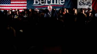 Bernie Sanders bei einem Wahlkampfauftritt in Iowa.