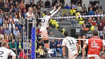 NLA-Spitzenspiel zwischen Volleyball Herren Schönenwerd - Amriswil