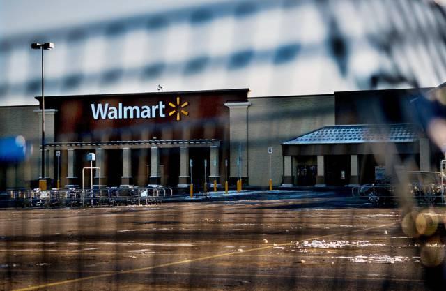Die geschlossene Wal-Mart-Filiale in Hayden nach dem Todesfall
