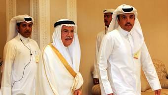 Der saudi-arabische Ölminister Ali al-Naimi (Mitte) beim Treffen in Doha