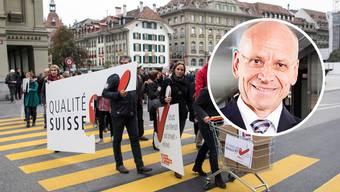Karl Hofstetter, Präsident von Swissholdings – für die Initianten ist er zum Kronzeugen geworden.