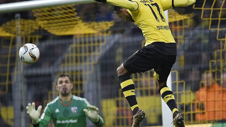 Pierre-Emerick Aubameyang erzielte gegen Ingolstadt seine Saisontore 19 und 20