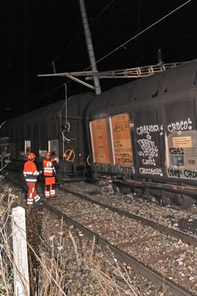 In Münchenstein ist am Donnerstagabend ein Güterwaggon entgleist
