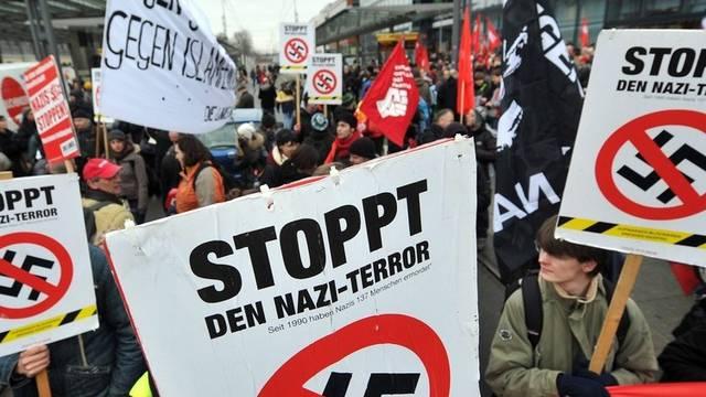 Teilnehmer der Demonstration in Dresden