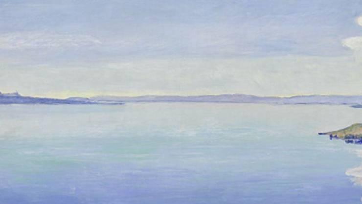 """Ferdinand Hodlers Gemälde """"Le Léman vu du Chexbres"""" (1904) ist Teil der Ausstellung """"Ferdinand Hodler und der Genfersee"""" im Musée d'Art de Pully (15. März bis 6. Juni 2018)."""