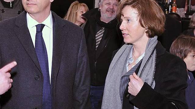 Kulturminister Didier Burkhalter und seine Frau Friedrun in Solothurn