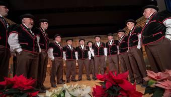 Der Jodlerklub beim Liedvortrag.