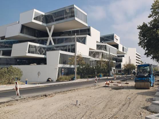 Der Hauptsitz von Actelion ist für den Bachgraben die bauliche Ikone. Die Architekten Herzog & de Meuron haben damit die Messlatte gelegt, die für den neuen Bachgraben gilt.