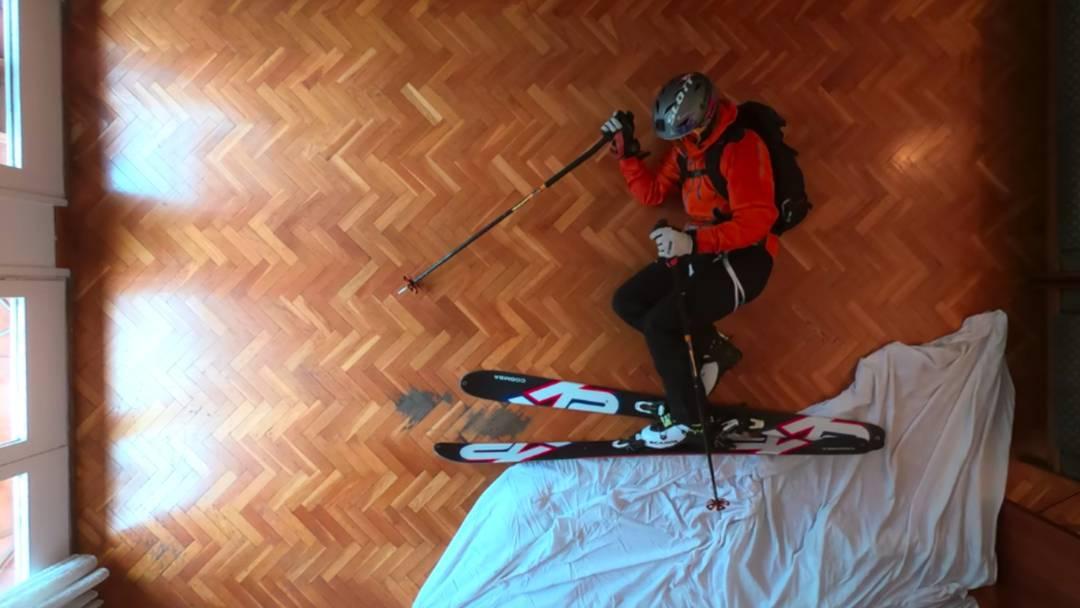 Genial! Freerider erlebt sein Ski-Abenteuer im Wohnzimmer