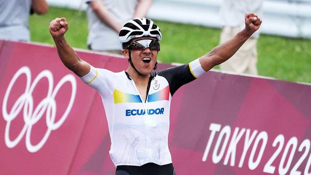 Gold für Ecuador im Strassenrennen der Männer durch Richard Carapaz