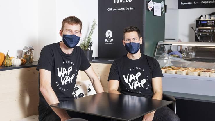 Philippe Schuppisser und Stefan Krause bieten im «Vap Vap» gesundes Fast Food.